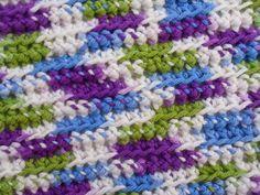 Happier Than A Pig In Mud: Mindless Ridged Dish Cloth Crochet Pattern