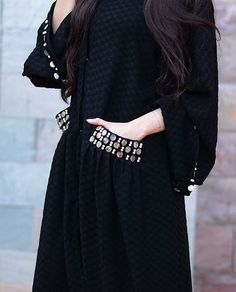 Image may contain: one or more people and people standing Niqab Fashion, Dubai Fashion, Fashion Dresses, Fashion Shoot, Abaya Designs Latest, Modern Abaya, Modele Hijab, Black Abaya, Arabic Dress