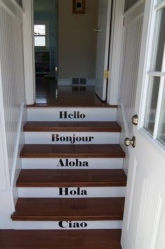Accessorize and Organize: Painted Stairs