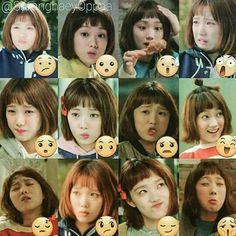 Queen of expressions 😂💋 Korean Actresses, Korean Actors, Dramas, Nam Joohyuk, Lee Sung Kyung, Weightlifting Fairy Kim Bok Joo, Joo Hyuk, I Miss Her, Korean Language