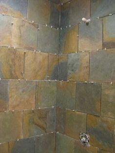 applying sealer to slate shower walls house cleaning pinterest slate shower slate and walls - Slate Castle Ideas
