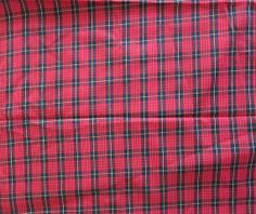 2.5 Yards Red And Black Tartan Sewing Fabric by BusyBeaverBoutique, $10.00 x-massy