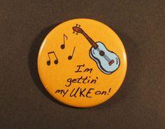 Pouce de Pinback Uke bouton Badge 1,75 Ukulele