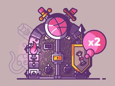 Hi fellow designers! Got some invites again.  You want to enter the Dribbble dungeon and be part of the community?  Then send me your best shot (400x300px) at: benjamin (at) arkanite.com  Ps: Subje...