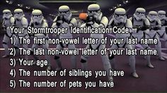 I'm not sure this is an actual Star Wars fact. but it's funny! Star Wars Jokes, Star Wars Facts, Star Wars Pictures, Star Wars Images, Star Wars Rebels, Star Wars Clone Wars, Starwars, Name Generator, The Force Is Strong