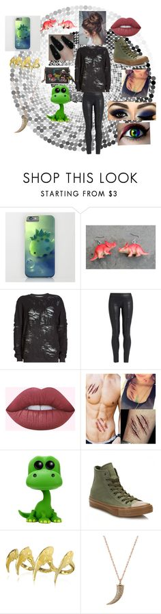 """""""Dino"""" by giselle-jazzyunicorn ❤ liked on Polyvore featuring Coach 1941, IRO, The Row, Converse and Bjørg"""