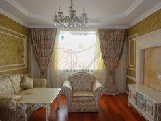 Вишукані штори у вітальні в класичному інтерєрі #Ваш_Інтерєр #штори