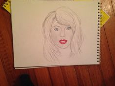 Quick sketch of Taylor swift. I also did a speed drawing of this on my YouTube channel.