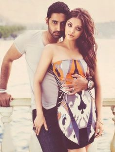 ~ Bollywood actor Abishek Bachan with bollywood beauty and wife Ashwariya rai