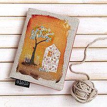 Papiernictvo - Béžový domček jesenný - A6 - 5773899_