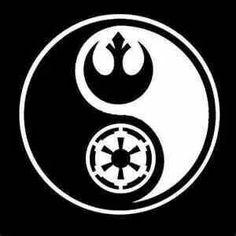 Star Wars: Yin Yang tshirt from smartassbartender Star Wars Stencil, Star Wars Art, Nature Tattoos, Body Art Tattoos, Tatoos, Tattoo Art, Star Wars Drawings, Star Wars Celebration, Star Wars Tattoo