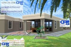 Pergola For Sale Cheap Info: 7190239604 Home Roof Design, Flat Roof House Designs, Bungalow House Design, Interior Design, My House Plans, Bedroom House Plans, House Floor Plans, Architect Design House, House Plans South Africa