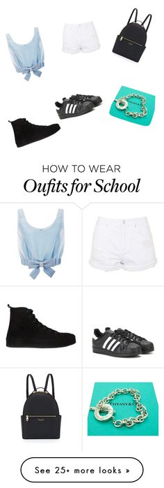 """""""Let's go to school/the mall"""" by castieltalia on Polyvore featuring Honor, Topshop, Ann Demeulemeester, adidas, Henri Bendel and Tiffany & Co."""