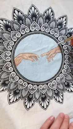 Mandala Art Lesson, Mandala Artwork, Mandala Painting, Mandala Drawing, Mandala Sketch, Watercolor Mandala, Doodle Art Designs, Mandala Stencils, Doodle Art Drawing
