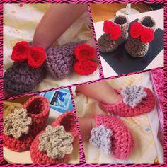 Baby bootie crochet