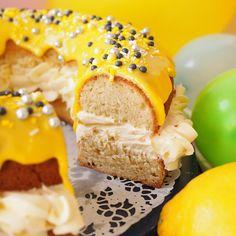 Vappuna hurmaa sitruunainen donitsikakku - Kulinaari-ruokablogi