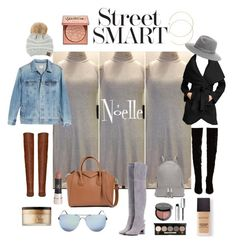 """Street Smart Noelle"" by anabellasboutique on Polyvore featuring AG Adriano Goldschmied, T Tahari, Tory Burch, Christian Louboutin, Michael Kors, Givenchy, Laura Mercier, Too Faced Cosmetics, Bobbi Brown Cosmetics and Anastasia Beverly Hills"