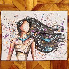 10 Fan Art inspirados en Disney que emocionarán a tu niña interior - POCAHONTAS