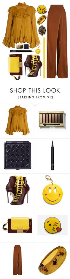 """08.06.17"" by malenafashion27 ❤ liked on Polyvore featuring Chloé, Max Factor, Black, NARS Cosmetics, Dsquared2, Edie Parker, Mulberry, PINTRILL, Balmain and Gucci"