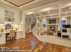 Option for Six Bedrooms - 23589JD   Craftsman, Northwest, Shingle, Photo Gallery, 2nd Floor Master Suite, Bonus Room, Butler Walk-in Pantry, CAD Available, Den-Office-Library-Study, In-Law Suite, Media-Game-Home Theater, PDF   Architectural Designs