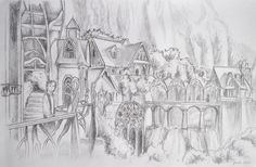 lord of the rings rivendell drawing