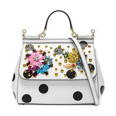 Dolce & Gabbana Medium Sicily Bag (£2,298) ❤ liked on Polyvore featuring bags, handbags, shoulder bags, shoulder handbags, man bag, white leather purse, handbags shoulder bags and white leather handbags