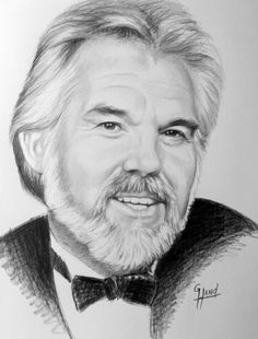 "Kenny Rogers   11""x 14"" .....Pencil Drawing by ..Greg Hand"