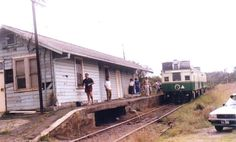 Redhead Railway Station, Redhead, Lake Macquarie, NSW. Train is the passenger train on the occasion of its final trip on the Belmont-Adamstown railway line, February 1986.