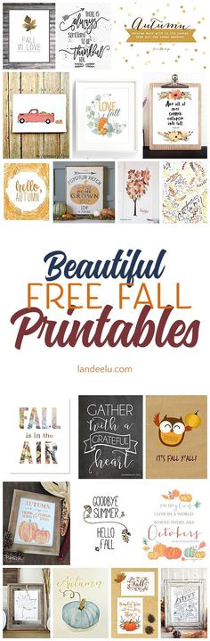 Easily decorate for fall with fall printables Printables Organizational, Fall Crafts, Diy And Crafts, Decor Crafts, Stencils, Happy Fall Y'all, Fall Diy, Autumn Home, Fall Harvest