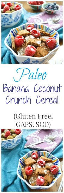 Banana Coconut Crunch Cereal (Paleo, GAPS, SCD, Gluten Free, Dairy Free, Nut Free, Egg Free)