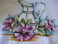 . Lace Painting, Crochet Box, Acrylic Art, Folk Art, Decoupage, Diy And Crafts, Sketches, Vase, Drawings