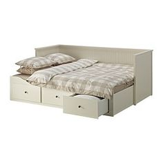 Hemnes daybed with 3 drawers 2 mattresses white for Sofa cama 120 cm ancho