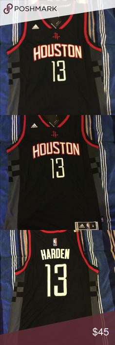 43722d417ff James Harden black away throwback jersey authentic brand new with tag