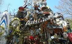 The cathedral of Junk is located in Austin, Texas and is an institution in the city. It's one of the most interesting and weird attractions in the city.