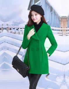Áo khoác dạ màu xanh thời trang - A8590