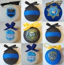 WBTB/FBTB Thin Blue Line Christmas ornaments. I want to make these!
