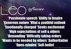 Enchanted By The Universe leo influence Leo Rising, Leo Love, Yep Yep, High Expectations, Open Minded, Universe, Self, Language, Passion