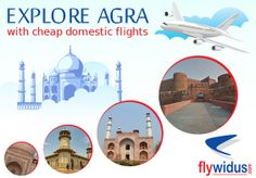 Agra is a place which has a rich and warm beauty of Mughal sultanate. Agra is a place situated in the north of the country and in the state of Uttar Pradesh. The city of Agra is regarded as the epi. Cheap Domestic Flights, Cheap Flights, Cheap Air Tickets, Cheap Flight Tickets, Air Ticket Booking, Domestic Airlines, Lowest Airfare, Online Travel