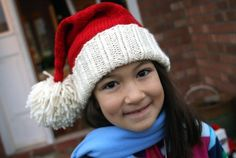When I first started hat knitting back in the summer, one of my first thoughts was that a Santa hat would be a fun knit.  Unfortunately, I'v...