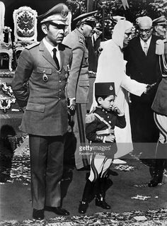 II, the supreme commander of Morocco's armed forces and head of the general staff and his son, the crown prince SIDI MOHAMMED during the celebrations of Morocco's independence on November 18, 1967.