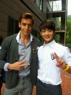 minho/julien kang on the set of to the beautiful you