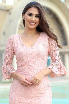 35a595a2b97e Vestido Bethy Moda Evangélica Gisele Santana - Vestido da marca Gisele  Santana, Confeccionada em tecido