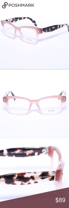 74cd5930f663 Description  PRADA VPR PINK TORTOISE EYEGLASSES Brand new authentic Comes  with Generic Case