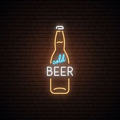 Neon Sign Of Cold Beer. Neon Sign Of Cold Beer. Neon sign of cold beer. Premium Vector<br> Discover thousands of Premium vectors available in AI and EPS formats Neon Light Art, Neon Light Signs, Led Neon Signs, Neon Led, Neon Words, Neon Design, Neon Wallpaper, Neon Aesthetic, Paper Plane