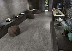 Minoli Tiles - Bravestone - Internal and external areas can now merge together in harmony with BraveStone Grey by Minoli, as its stone effect surface creates a strong modern impression with the right technical features. Tiles: BraveStone Grey 75/150 cm. https://www.minoli.co.uk/tiles/bravestone-grey/ - #Minoli #minolitiles #porcelain #tile #porcelaintile #tiles #porcelaintiles #stone #look #stonelook #effect #stoneeffect #bravestone #grey #bigsize #matt #indoor #homedecor #interiordesign