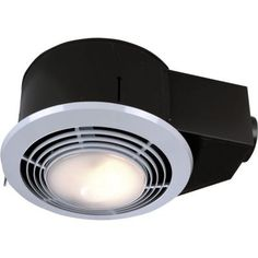 Brushed nickel bathroom vent fan light combination combo exhaust nutone 100 cfm ceiling exhaust fan with light and heater qt9093wh the home depot aloadofball Image collections
