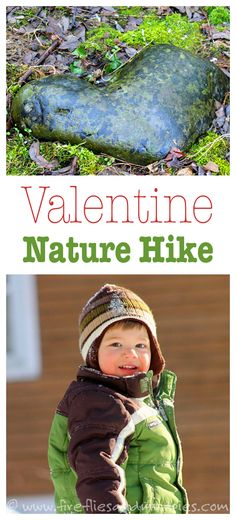 Search for hearts in nature on this fun Valentine Nature Hike! | Fireflies and Mud Pies