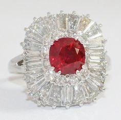 Burma Ruby Ring with Diamonds