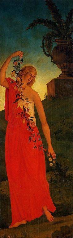 Paul-Cezanne The Four Seasons (1860-1861) Spring
