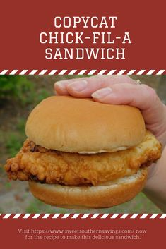 This is the very best Copycat Chick-Fil-A Chicken Sandwich recipe we've ever tried. Plus, baked, air fryer cooking, nugget, and dipping sauce recipes. Copycat Chick-Fil-A Chicken Sandwich and Dipping Sauce Recipes - Chick Fil A Chicken Sandwich Recipe, Chick Fil A Sandwich, Fried Chicken Sandwich, Chicken Nugget Recipes, Recipe For Chickfila Chicken, Chick Fil A Breading Recipe, Food Chicken Recipes, Chick Fil A Coleslaw Recipe, Chicken Little Recipe